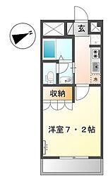神奈川県横浜市旭区桐が作の賃貸アパートの間取り