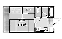 シティハイムサン[2階]の間取り