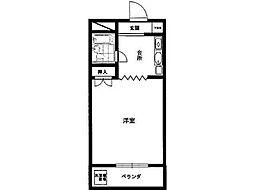 長沼田口ハイツ[2階]の間取り
