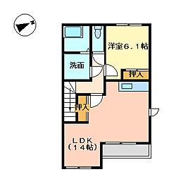 リオグランデ[2階]の間取り
