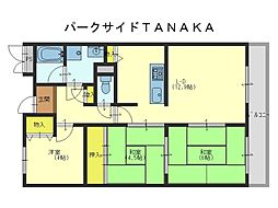 パークサイドTANAKA[1階]の間取り