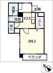 プルマージュ本郷[2階]の間取り