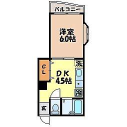 長崎県長崎市淵町の賃貸マンションの間取り