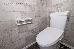 トイレの壁紙もこだわっていますこちらの写真は施工事例となっております