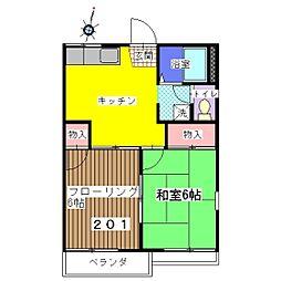 コーポBENIMO A棟[201号室]の間取り