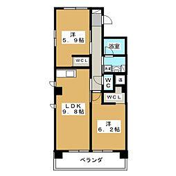 IL ROSSO堀川六角[5階]の間取り