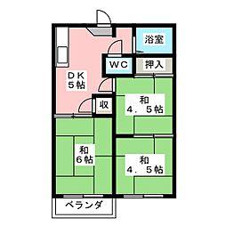 コーポおおぎ[2階]の間取り