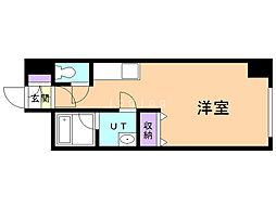 第6松屋ビル 5階ワンルームの間取り