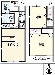[タウンハウス] 愛知県豊田市浄水町伊保原 の賃貸【/】の間取り