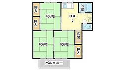 兵庫県姫路市北平野2丁目の賃貸アパートの間取り