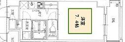 ワールドアイ神戸湊町 5階1Kの間取り