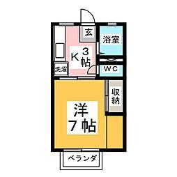 コットンポット[2階]の間取り
