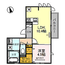 仮)SOLEADO鳴尾[2階]の間取り