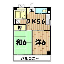 クリエールヤマニ[3階]の間取り