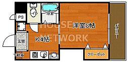 京都府京都市中京区末丸町の賃貸マンションの間取り