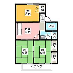 サンビューラ熊田 B棟[2階]の間取り