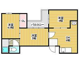 宿院サンハイツ[3階]の間取り