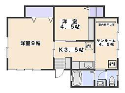 第一楠ビル[4階]の間取り