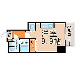 カサプラティーノ名古屋ノルテ 8階ワンルームの間取り