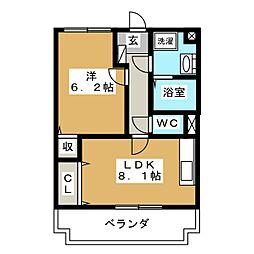 メゾン欅台[2階]の間取り