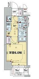 プレサンス新大阪コアシティ[2階]の間取り