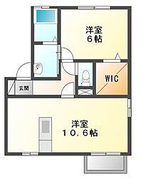 MaisonK・HⅠ[2階]の間取り