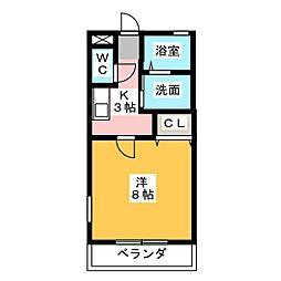 コーポタカト[1階]の間取り