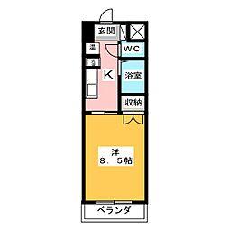 すまいるKATO 1階1Kの間取り
