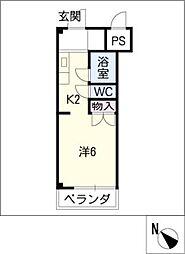 ジョイフル江島[2階]の間取り