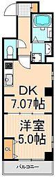 コスモ入谷[401号室]の間取り