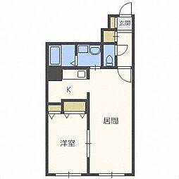 ティアラW15[1階]の間取り