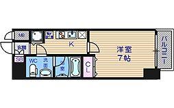 LAV心斎橋WEST[14階]の間取り