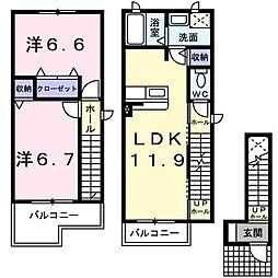 サン・メゾン[2階]の間取り