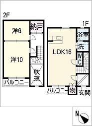 [タウンハウス] 愛知県西尾市住崎6丁目 の賃貸【/】の間取り