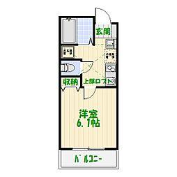 東京都葛飾区堀切2丁目の賃貸アパートの間取り