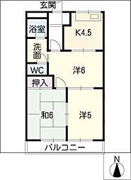 WOOD PARK[1階]の間取り