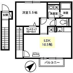 プリムールコート[2階]の間取り