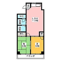 エステートOSM四番[2階]の間取り