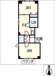 キンダーハウゼン[3階]の間取り