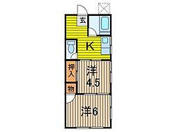 野尻荘[2階]の間取り