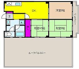 岡本センチュリーマンション[6階]の間取り