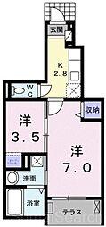 フォルトゥーナ[1階]の間取り