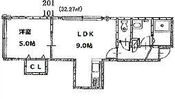 ディープスワンプ37[2階]の間取り