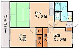 センタービル飯塚[5階]の間取り