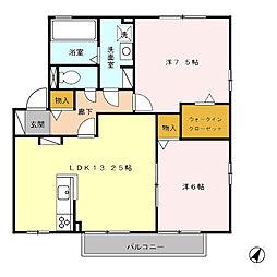 リビングタウン香久山 B[2階]の間取り
