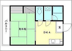 コーポ寺村[102 号室号室]の間取り