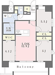 JR鹿児島本線 千早駅 徒歩4分の賃貸マンション 6階3LDKの間取り