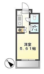 N.S.ZEAL東別院[2階]の間取り