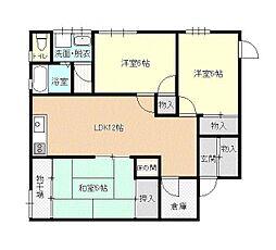 あべアパート[2-5号室号室]の間取り