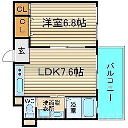 HIYORI-3[1階]の間取り